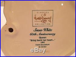 Disney WDCC Snow White EVIL QUEEN BRING BACK HER HEART CoA Classics Collection