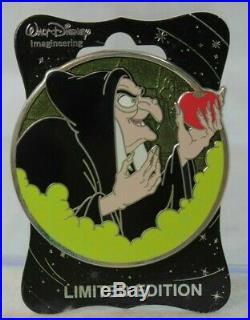 Disney WDI LE 250 Pin Villains Profile OLD HAG Evil Queen Snow White 7 Dwarfs