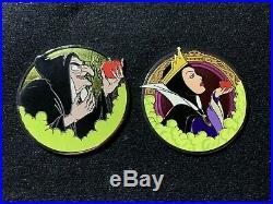 Disney WDI Villains Profile Snow White Evil Queen And Old Hag Pins Le 250
