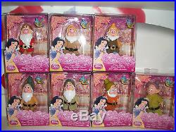 Disney princess SEVEN DWARFS SNOW WHITE PRINCE & EVIL QUEEN BUNDLE NEW BOXED