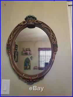 Disney snow white Evil Queen Glass Magic Mirror 25 X 19 inch big statue