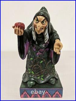 Enesco Jim Shore Disney Evil Queen Hag Witch TAKE A BITE Snow White Figurine