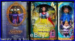 Evil Queen Doll Great Villains Disney Snow White Dwarfs Dopey Sneezy Lot 3 G