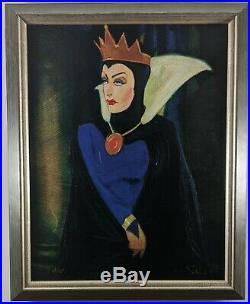Evil Queen FRAMED Jim Salvati Disney Snow White Villain Hag Giclee Canvas