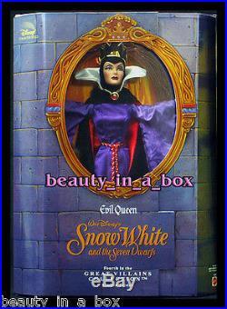 Evil Queen Great Villains Disney Doll Favorite Fairytale Princess Snow White EXC