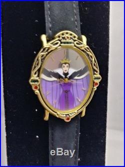 Evil Queen Magic Mirror Watch Snow White Disney LE 417/1000 NIB Fantasma