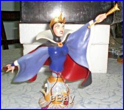 Grand Jester The Evil Queen Mini-bust Statue Set Disney Enesco Snow White