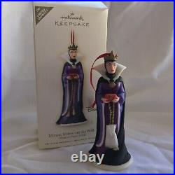 Hallmark Keepsake Snow White Evil Queen Disney Maleficent Ornament Dwarfs Lot 3