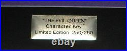 JUMBO LE Disney Pin Snow White Villain Evil Queen Character Key #250 of 250