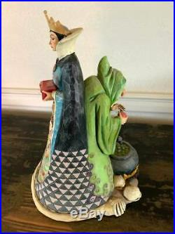 Jim Shore Disney Traditions Snow White Evil Queen Old Hag Wicked Figurine-Used