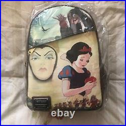 LOUNGEFLY NWT DEC SNOW WHITE/EVIL QUEEN BACKPACK Re-release EXCLUSIVE IN HAND