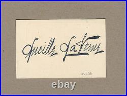 Lucille La Verne Hand-signed Index Card 1926 Evil Queen Disney's Snow White