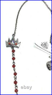 NEW Betsey Johnson Disney Parks Snow White Poison Apple Evil Queen Necklace NWT