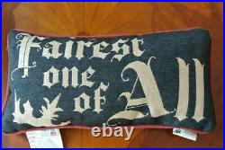 NEW Disney SNOW WHITE Pillow EVIL QUEEN Fairest One of All 9x15