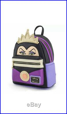 NEW Loungefly Snow White's EVIL QUEEN Mini 3D CROWN Backpack 9Wx11Hx6.5D
