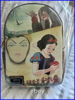 NWT Snow White Evil Queen Loungefly Pink A La Mode DEC Backpack