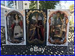 New Disney Store 2017 Evil Queen, Snow White, & Prince LE 17 Doll Set Of 3