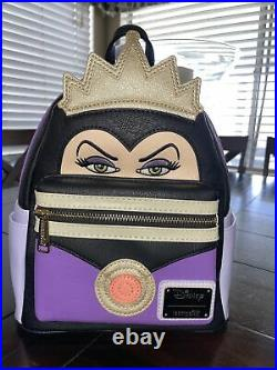 New Evil Queen Snow White and the Seven Dwarves Disney Loungefly Mini Backpack