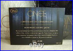 Once Upon a Time SIGNED Doll Set Snow White Evil Queen LE Disney 2015 D23 Expo