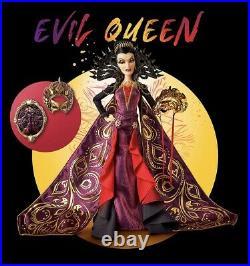 PREORDER Evil Queen Midnight Masquerade Designer Snow White Doll LE + Pin Set