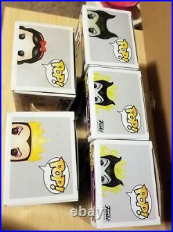 Pop Disney Villain Lot Maleficent (x3) 232 GITD 09 Evil Queen 42 Snow White 08