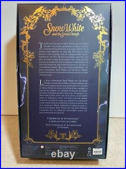 RARE Brand New Disney Store 17 Snow White Evil Queen Limited Edition Doll OOP