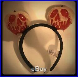 RARE Disneyland Disney Parks Evil Queen Poison Apple Mickey Ears Snow White