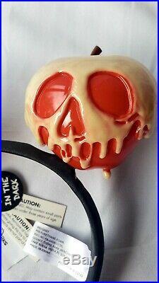 RARE NWT Disney Evil Queen Poison Apple Headband Ears Snow White