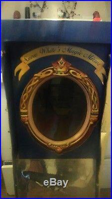 RARE Vintage Disney Snow White Evil Queen Magic mirror full size 42h x 12w x12