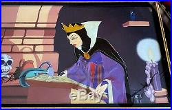 Rare Snow White, Evil Queen Production Cel Signed Walt Disney 1937