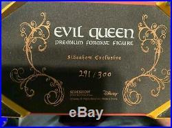 Sideshow EVIL QUEEN EXCLUSIVE Premium Format WALT DISNEY's Snow White 291/300