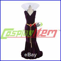 Snow White Evil Queen velvet Dress Costume Cosplay Stepmother Fancy Dress cloak