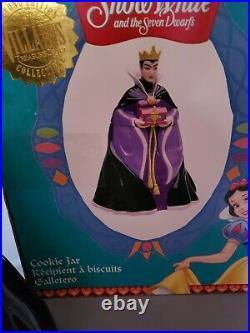 Treasure Craft Disney Snow White Evil Queen Cookie Jar W Box