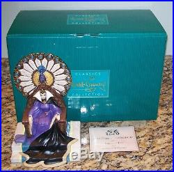 WDCC Disney Enthroned Evil Queen Figurine withBox & COA 1205544 Snow White MINT