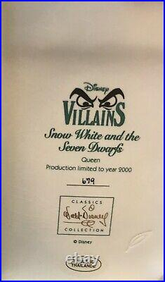 WDCC SNOW WHITE EVIL QUEEN ENTHRONED EVIL Limited Edition NIB WithCOA