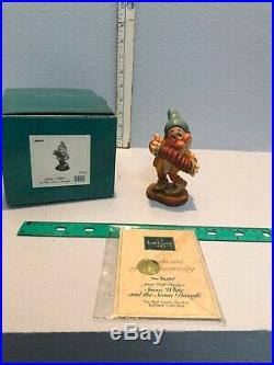 WDCC Set of Snow White and the 7 Dwarfs Evil Queen Hag Box COA