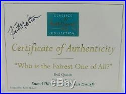 WDCC Who is the Fairest One of All Evil Queen from Snow White Box Signed COA