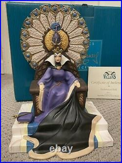 Wdcc Evil Queen Snow White Enthroned Evil